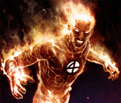 The Human Torch is soft on burning children.